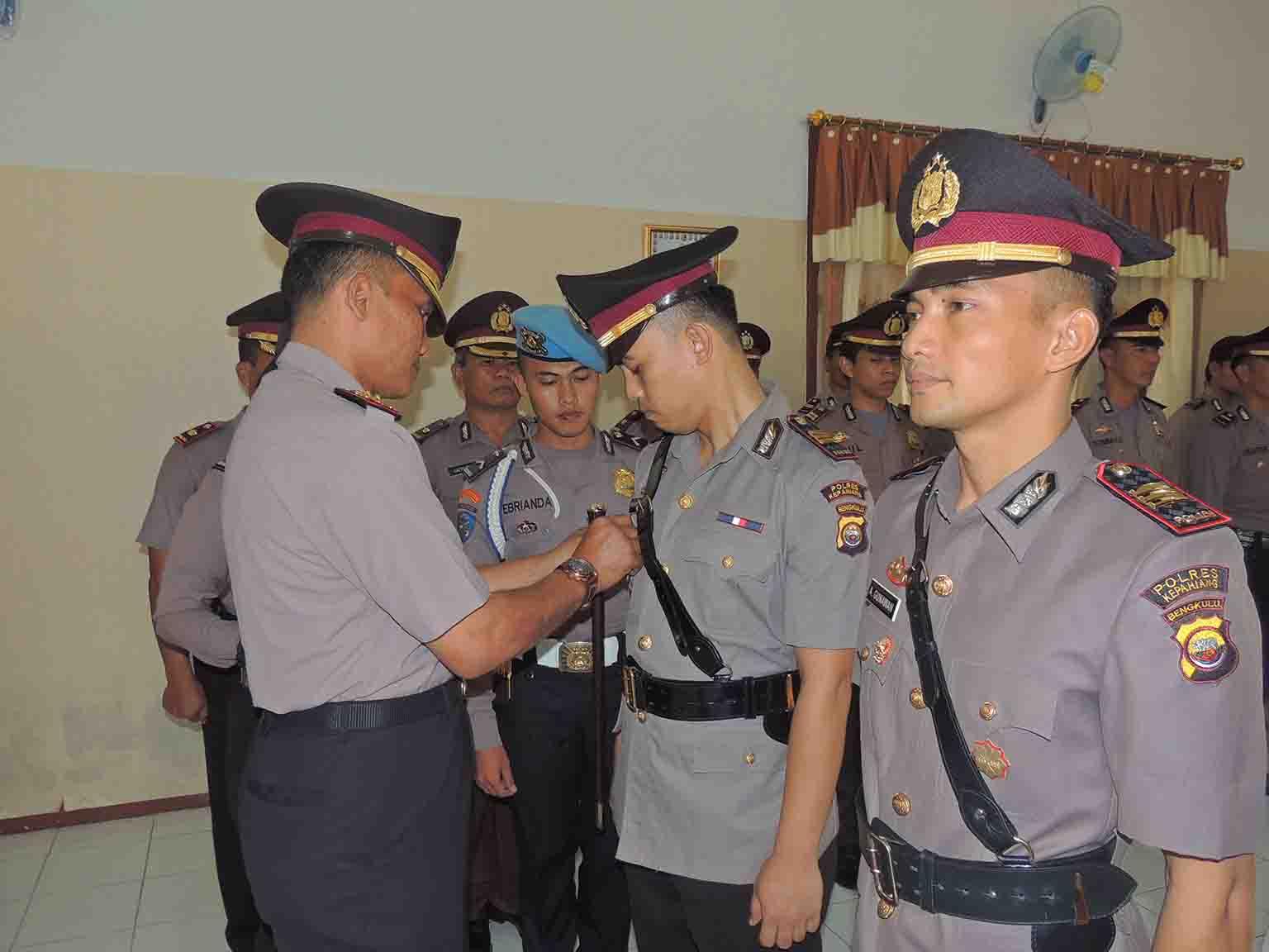 Kapolres Kepahiang Pimpin Upacara Sertijab 4 Pejabat Utama Yang Mutasi
