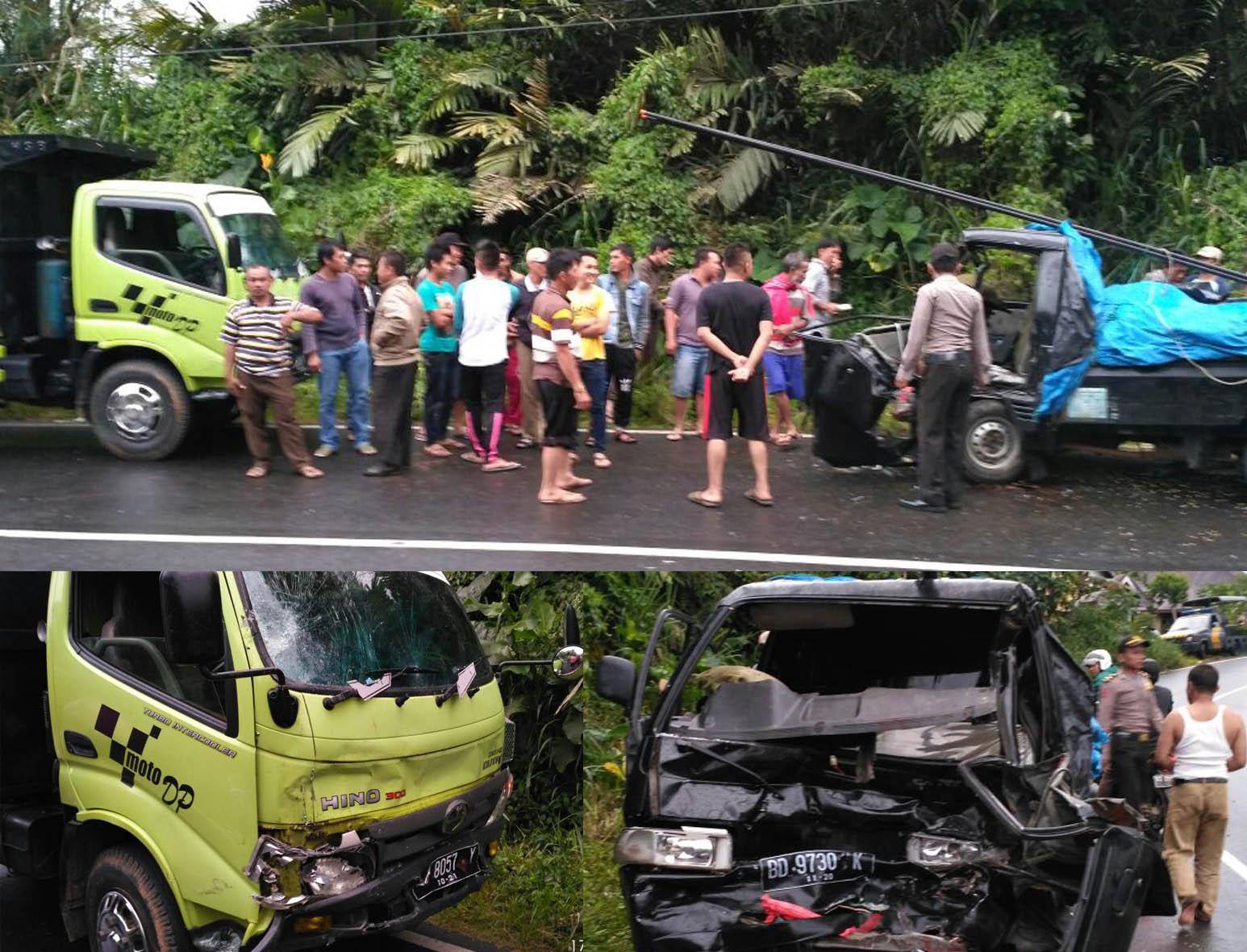 Polisi Evakuasi Korban Kecelakaan Truck vs Futura