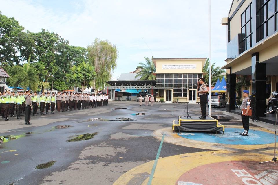 Kesaktian Pancasila Polres Bengkulu Gelar Upacara