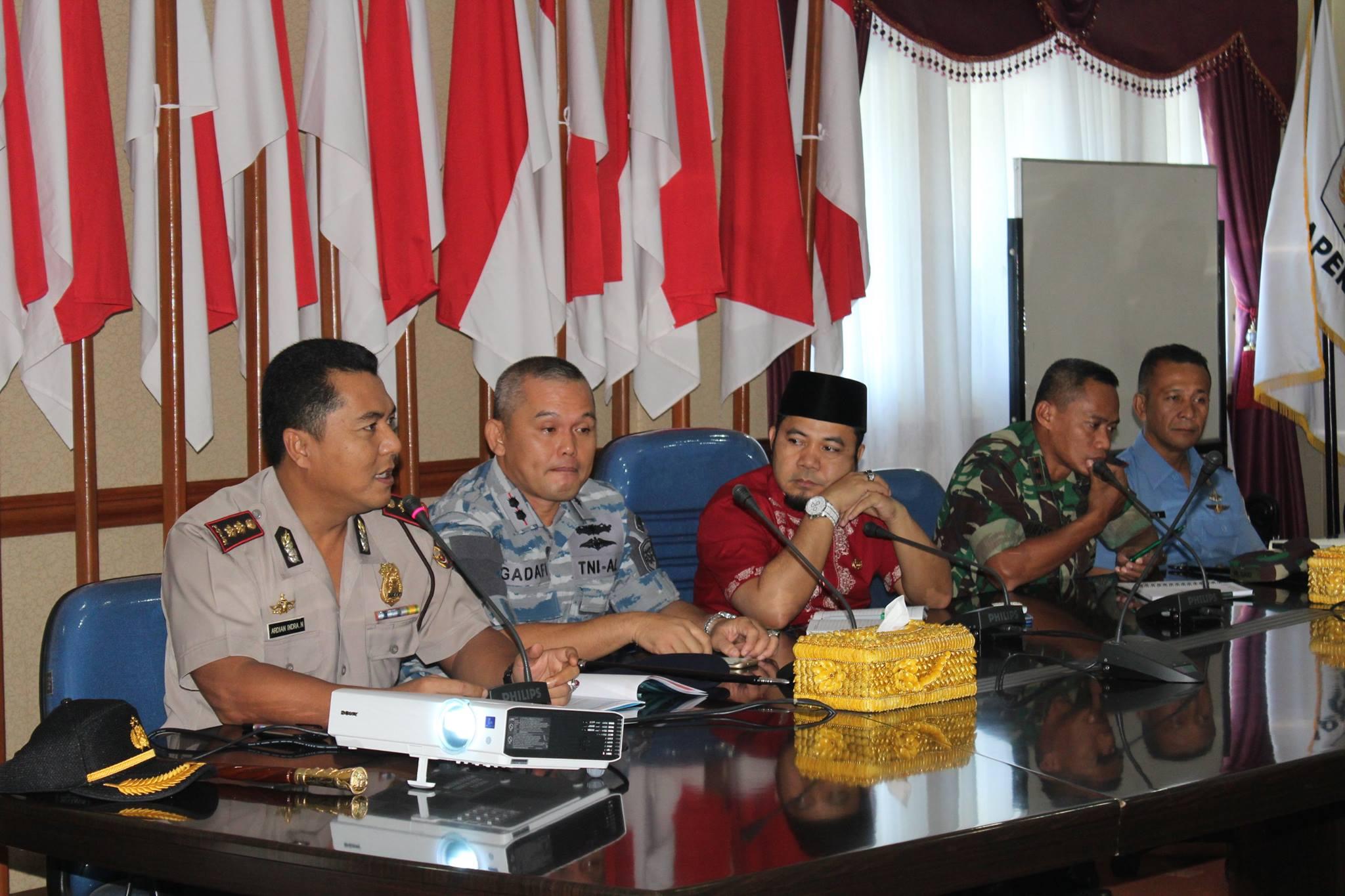 Rapat Koordinasi Pengamanan Hari Raya Idul Fitri 2016 di Kantor Walikota Bengkulu
