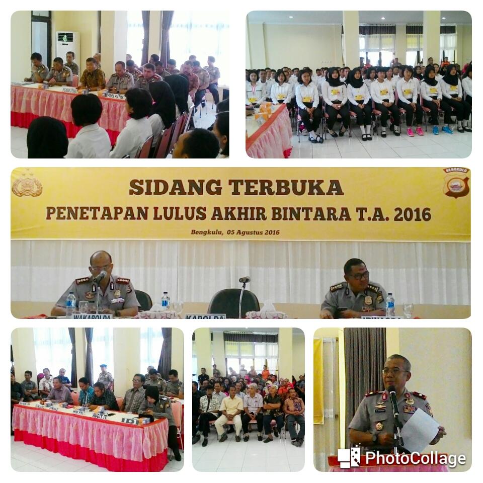 Polda Bengkulu Gelar Sidang Terbuka Pantukhir Bintara TA. 2016