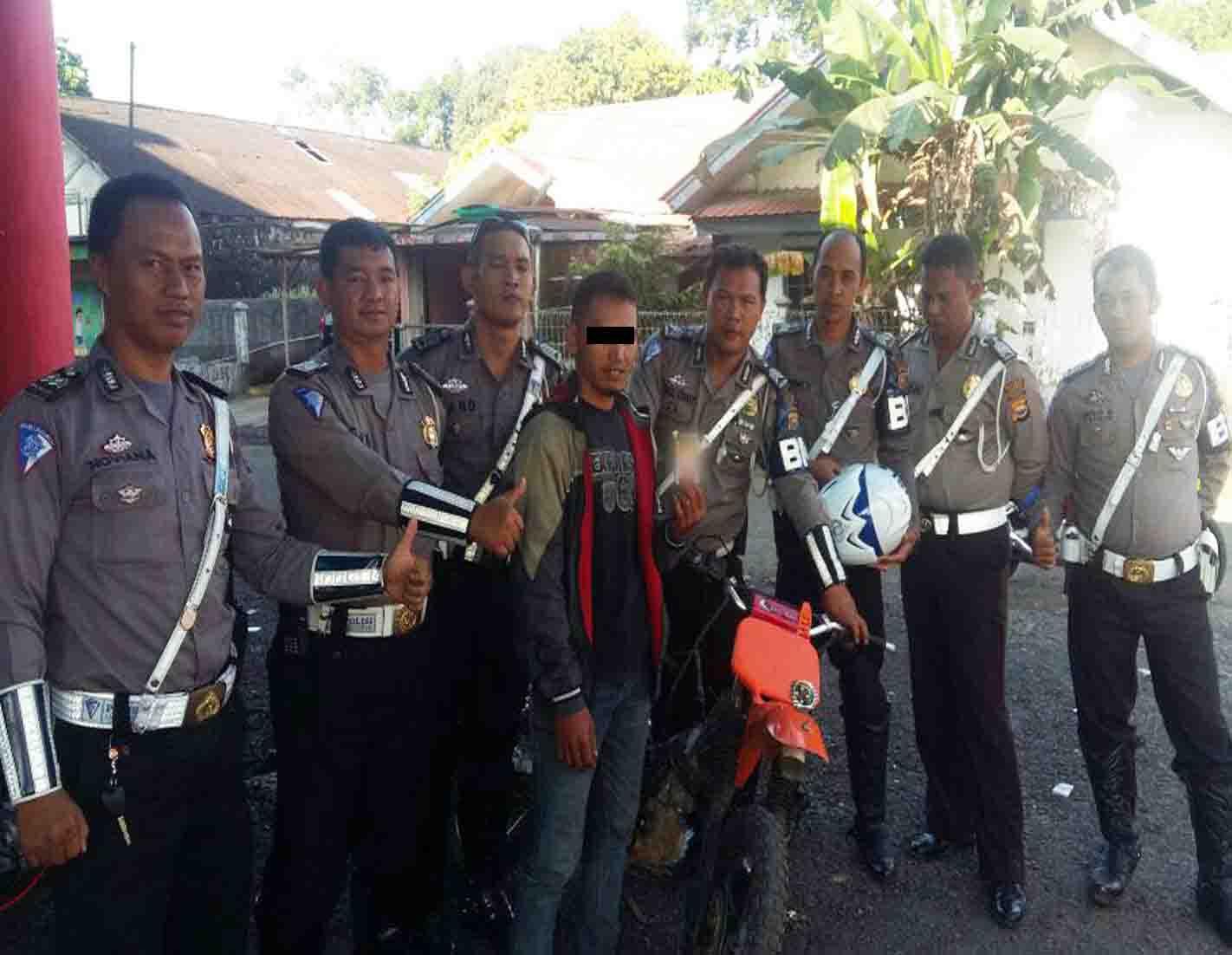 Bawa Biji Ganja, Seorang Petani Ditangkap Polantas Pos Puncak Kepahiang