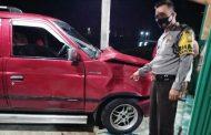 Tabrak Sapi, Mobil Warga Nganjuk Rusak Berat