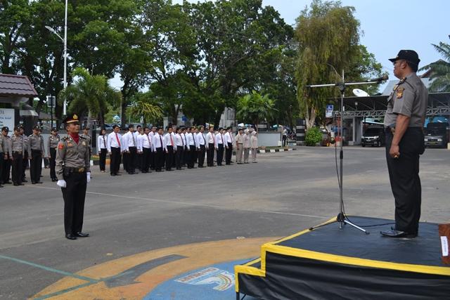 Upacara Hari Pahlawan di Polres Bengkulu