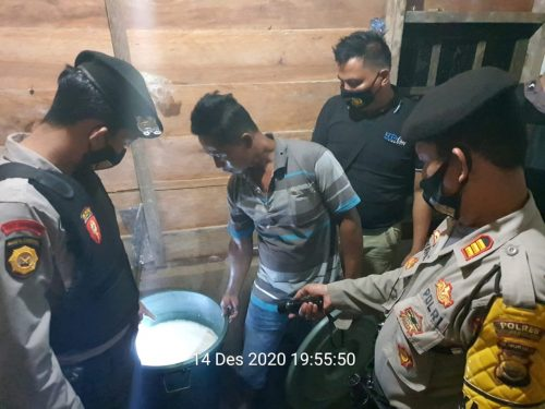 Ops Pekat Nala 2020, Polres BS Sita 115 Liter Tuak
