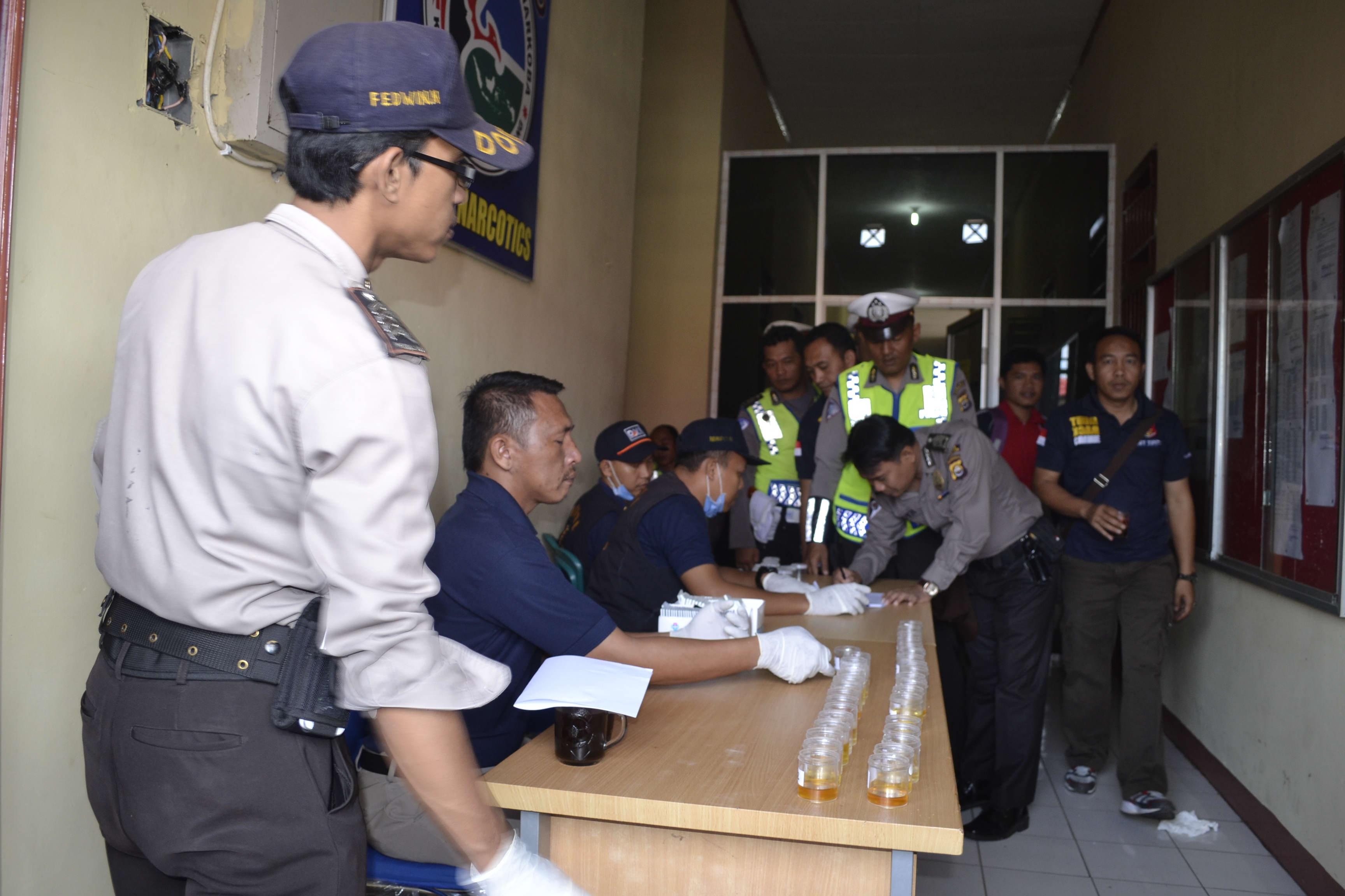 Anggota Polres Kepahiang Apel Dadakan