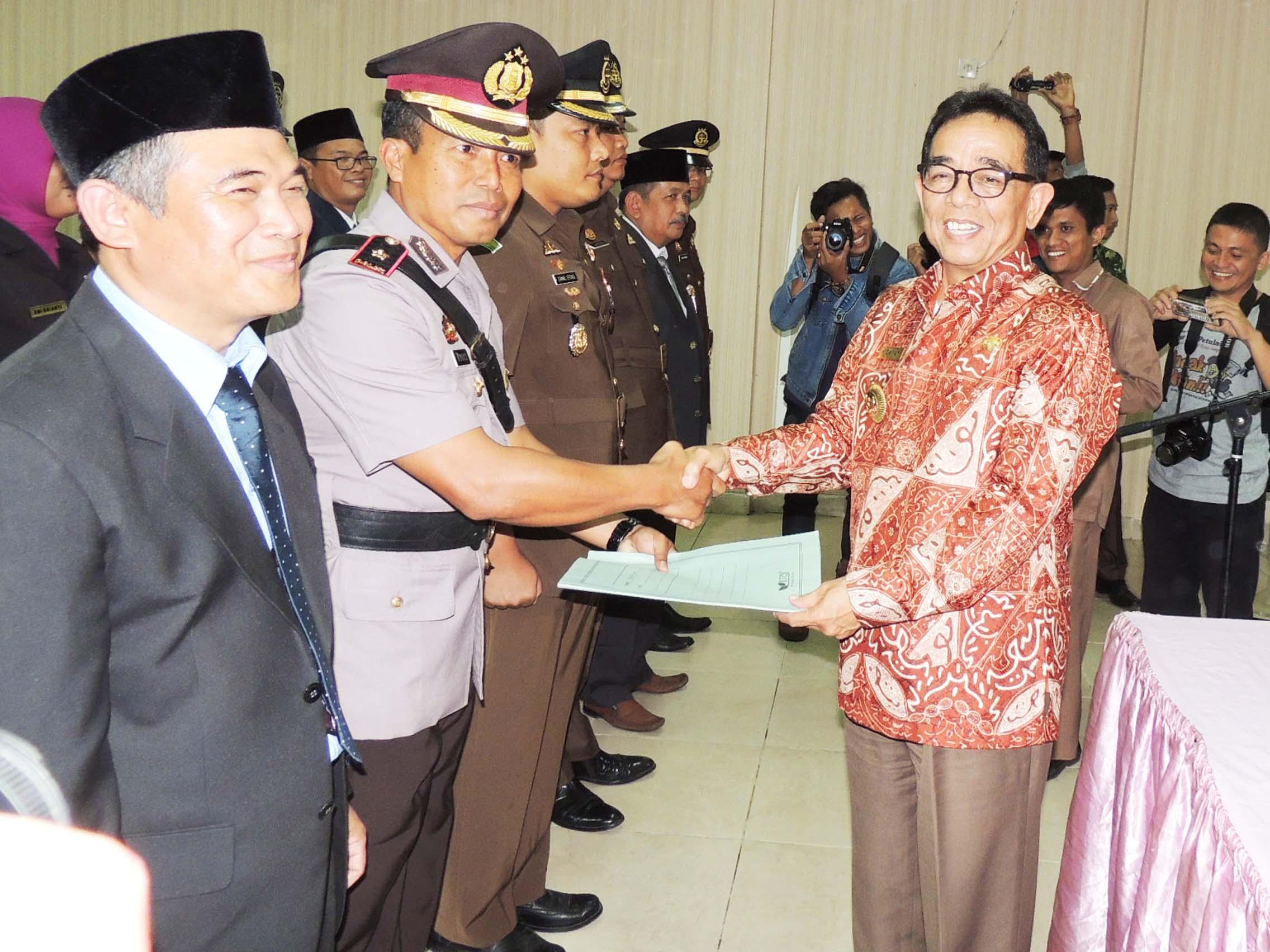 Resmi Dikukuhkan, Wakapolres Kepahiang Jabat Ketua Pelaksana Saber Pungli