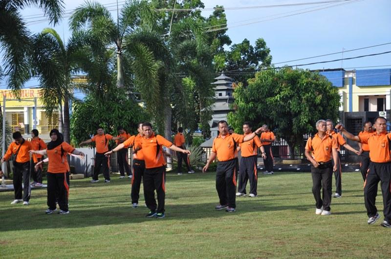 Senam Bersama Polda Bengkulu
