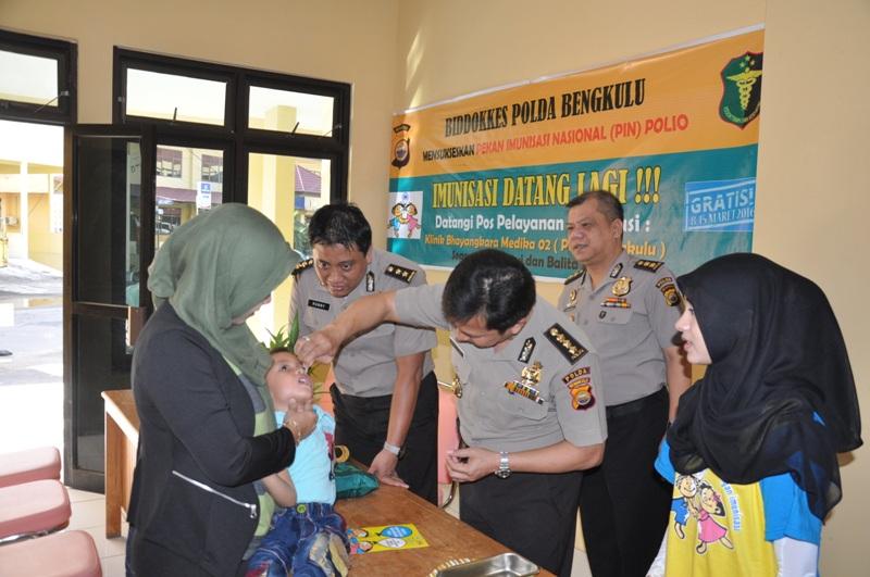 Kabid Dokkes Himbau Sukseskan Gerakan Indonesia Bebas Polio