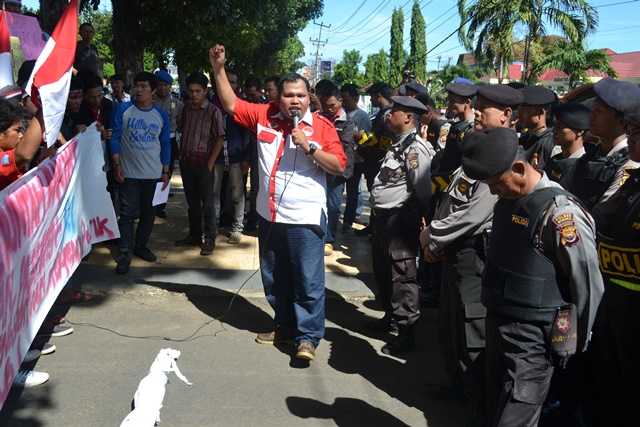 Polres Bengkulu Amankan Demo di PN