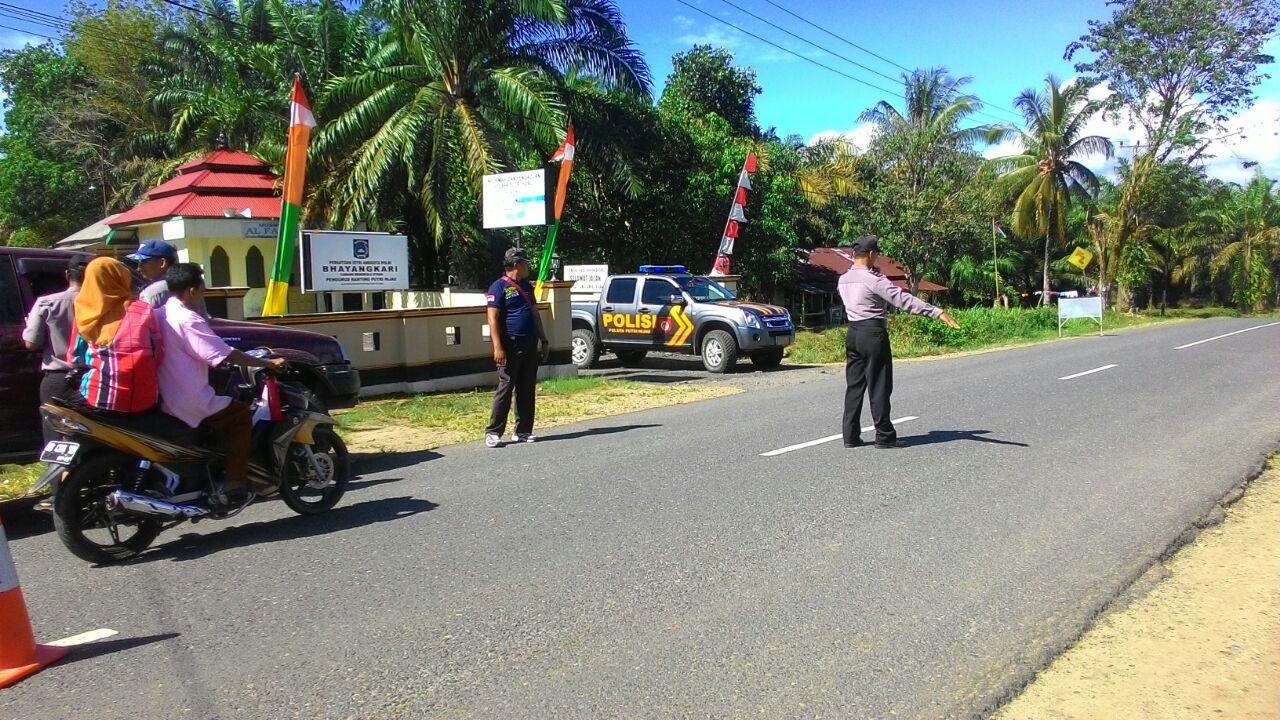 Bandit Pecah Kaca beraksi, Polres BU lakukan Blokir Jalan