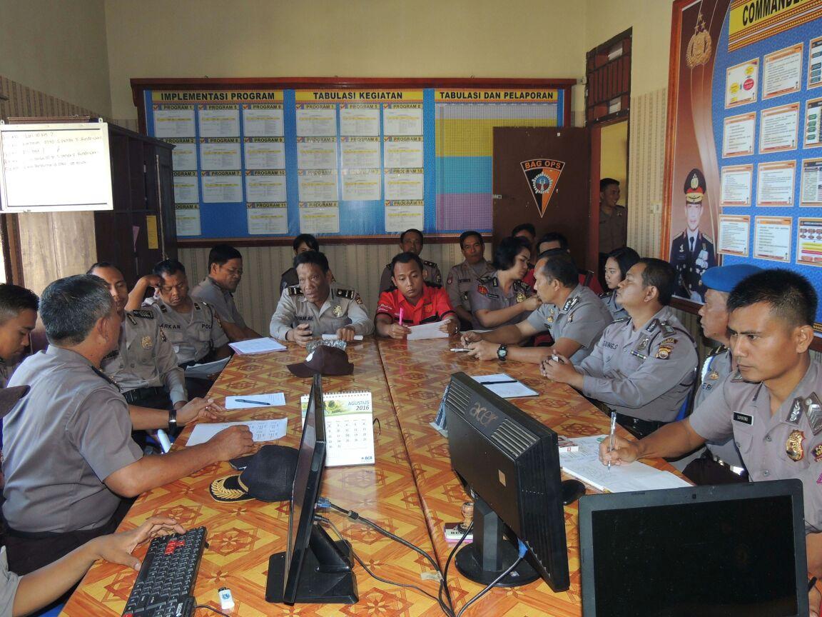 Polres Kepahiang Melaksanakan Monitoring dan Evaluasi Pelaksanaan Promoter