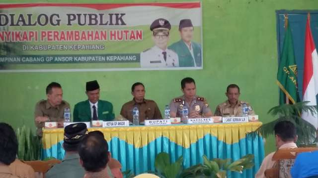 Wakapolres Kepahiang Menjadi Narasumber Dialog Publik Pelestarian Hutan Lindung