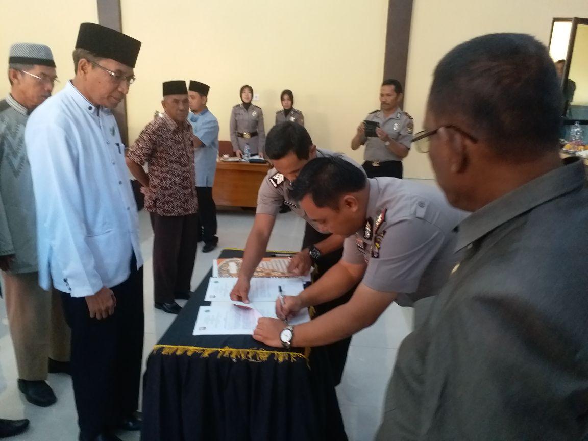 MoU Antara Kapolres Bengkulu Utara, MUI, dan Kemenag Cegah Radikalisme