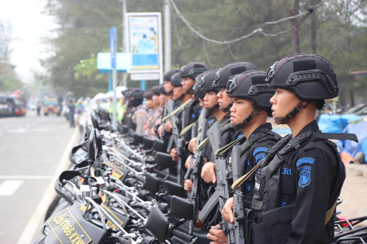 FOTO: Gelar Pasukan dan Peralatan Dalam Rangka Pengamanan GTTGN XXI di Bengkulu