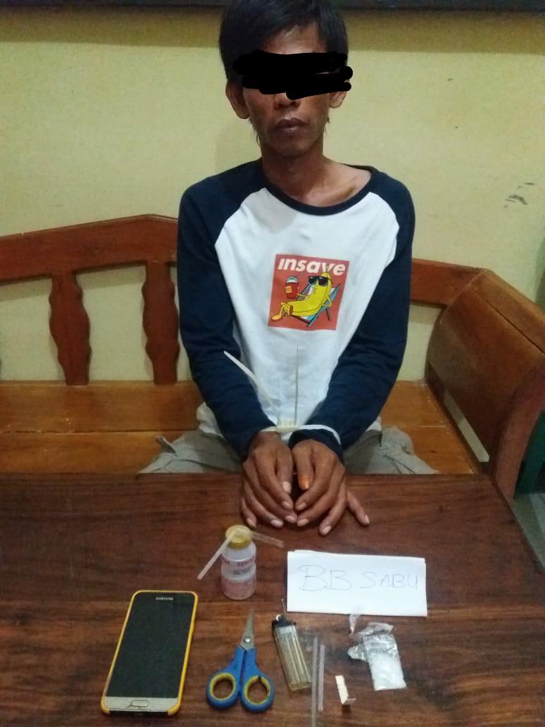 Polres Mukomuko Polda Bengkulu Amankan Warga Medan Jaya Yang Miliki Shabu