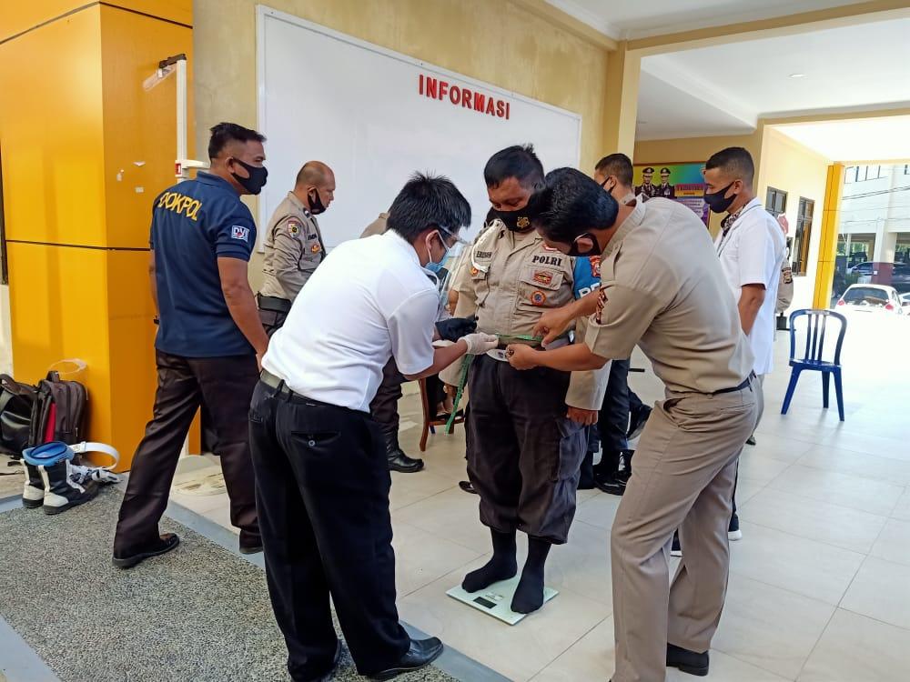 Biro SDM Laksanakan Pemeriksaan Kebugaran Personel Dimasa Covid19.