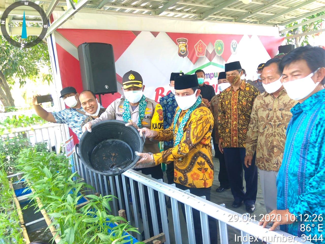 Polres Bengkulu Launching Kampung Berseri Berprestasi di Kelurahan Cempaka Permai