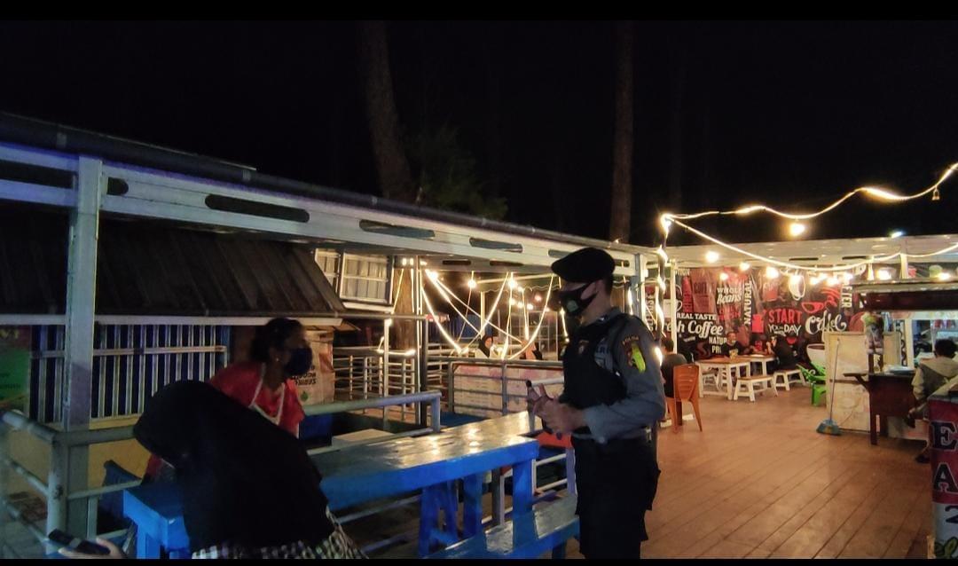 Himbau Prokes, Polda Bengkulu Patroli Kawasan Wisata dan Pusat Perbelanjaan