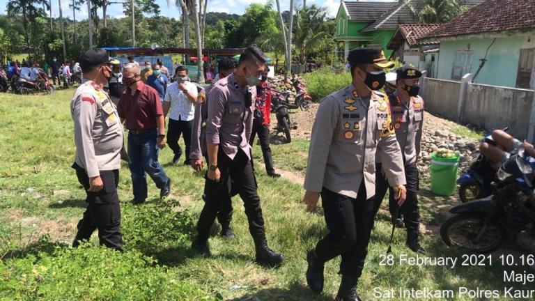 Pantau Pelaksanaan Pilkades , 4 PJU Polda Bengkulu Bertolak Ke Kaur