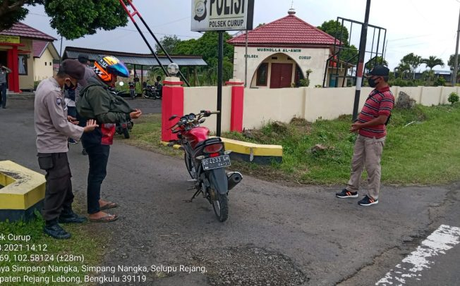 Cegah Tindak Pidana, Polsek Curup Gelar Razia Disertai Himbauan