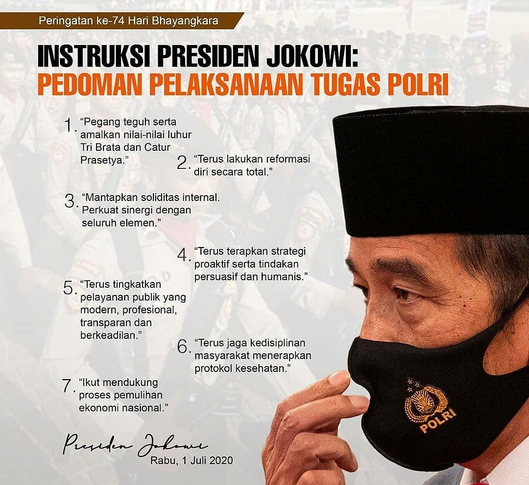 Ini 7 Instruksi Presiden Jokowi Kepada Polri!