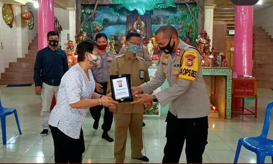 Jalin Komunikasi Jaga Kamtibmas Jelang Pemilu, Kapolres Bengkulu Silaturahmi Vihara Buddhayana Bengkulu