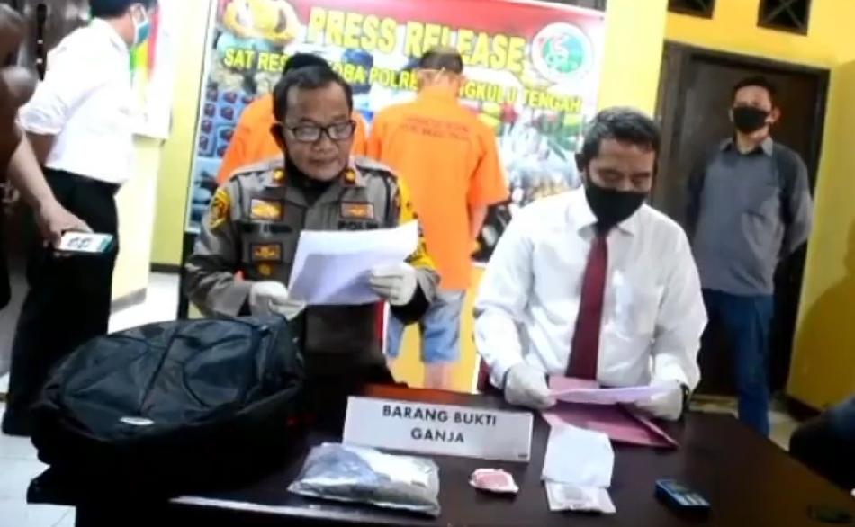Polres Bengkulu Tengah  Ungkap Dua Pelaku Penyalahgunaan Narkotika