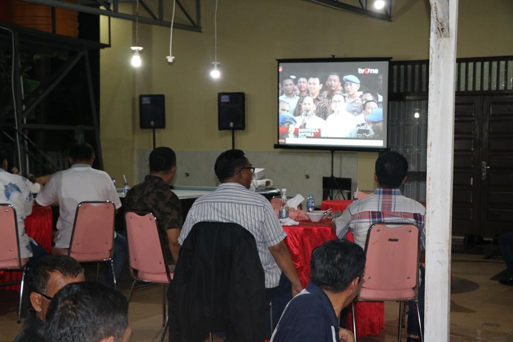 Irwasda Polda Bengkulu dan PJU Nonton Bareng ILC