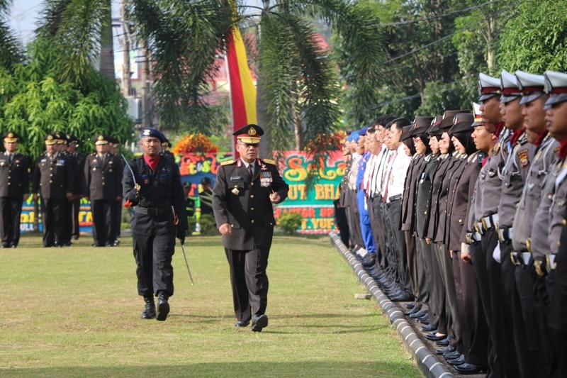 Peringatan KE-70 Hari Bhayangkara polda Bengkulu