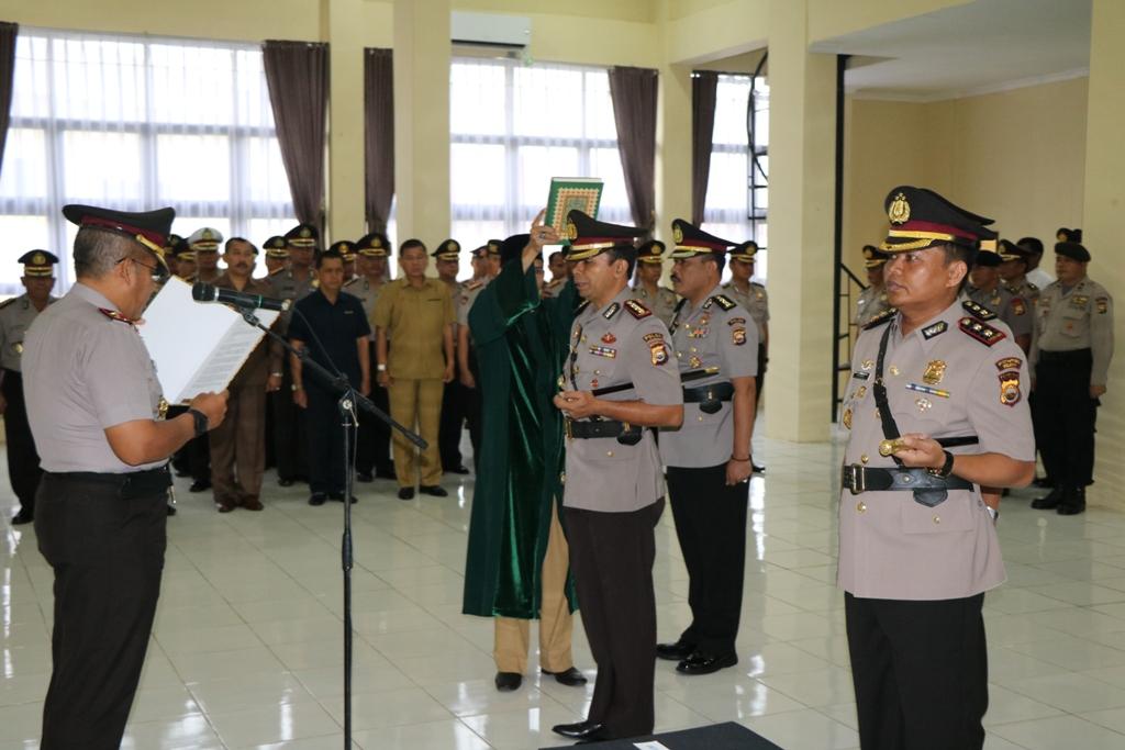 Serah Terima Jabatan Dir Krimum dan Kapolres Seluma Polda Bengkulu