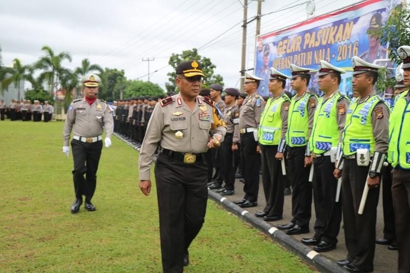 Gelar Pasukan Ops Patuh Nala 2016 Polda Bengkulu