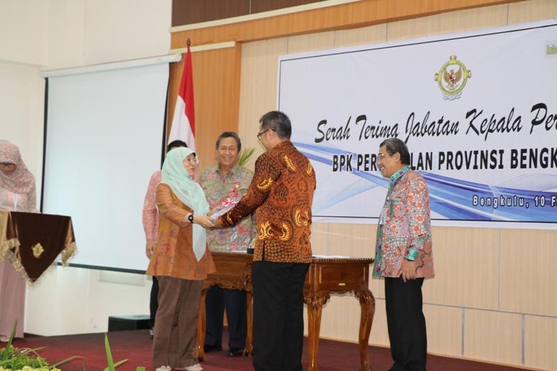 Sertijab kepala Perwakilan BPK Propinsi Bengkulu