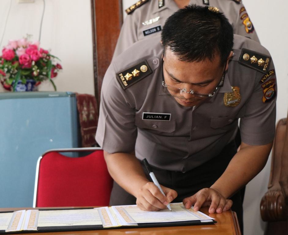 Sertijab Karumkit Bhayangkara Polda Bengkulu