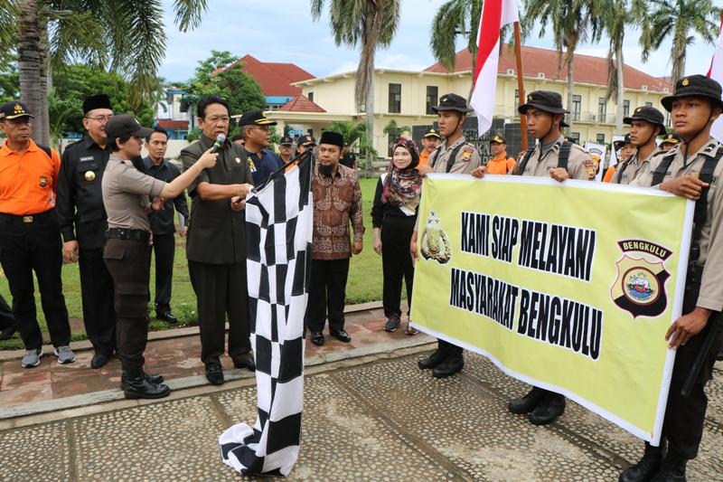 Polisi Baru Lakukan Tradisi Jalan Juang