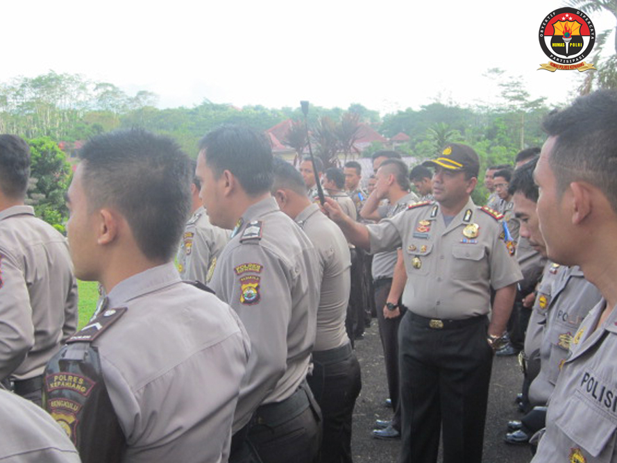 Kapolres Kepahiang Cek Sikap Tampang dan Gampol Anggota