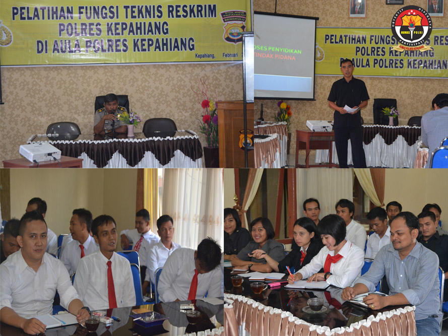 Polres Kepahiang Menggelar Pelatihan Fungsi Teknis Reskrim
