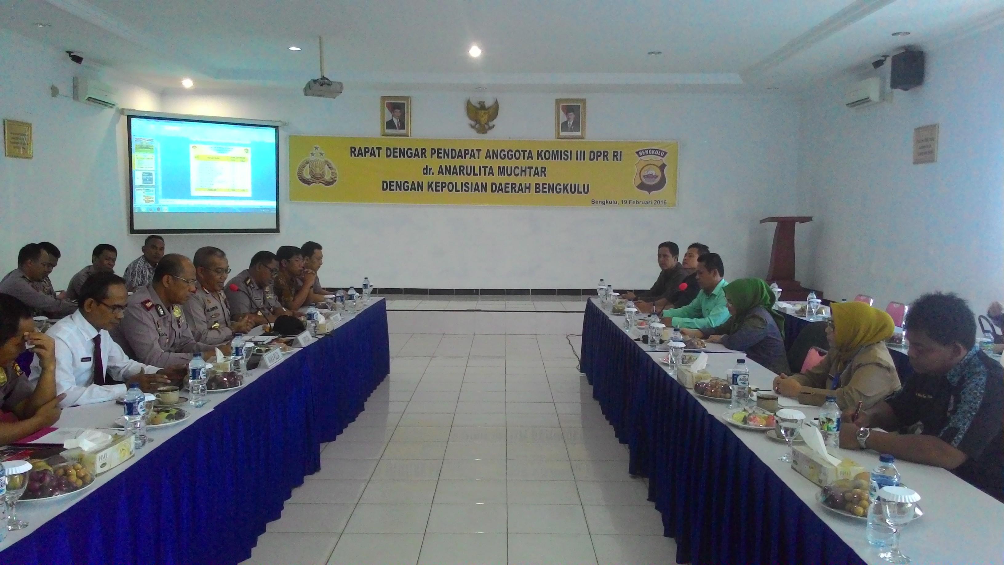 RDP Polda Bengkulu dengan Komisi III DPR RI
