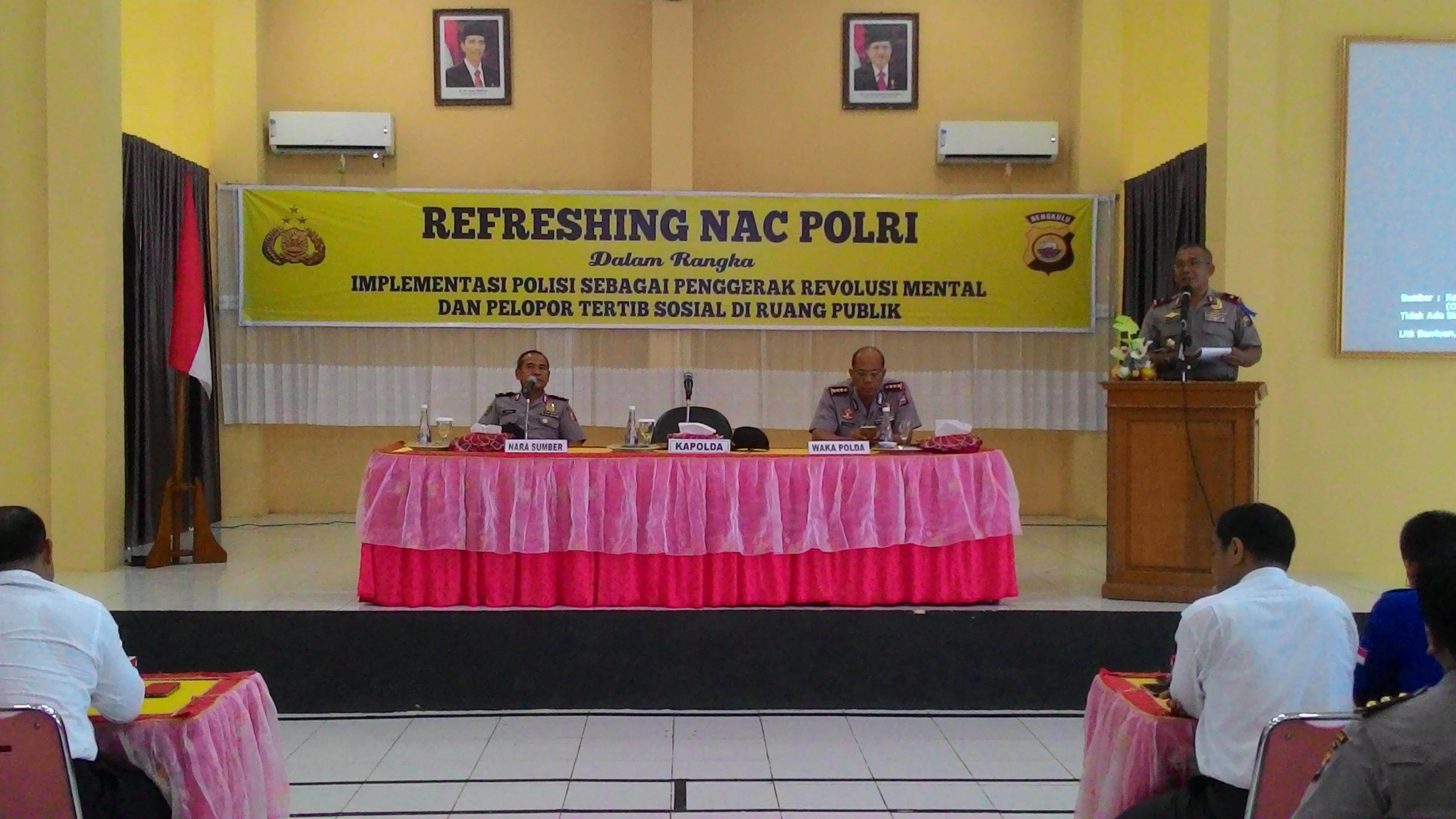 Refreshing NAC POLRI