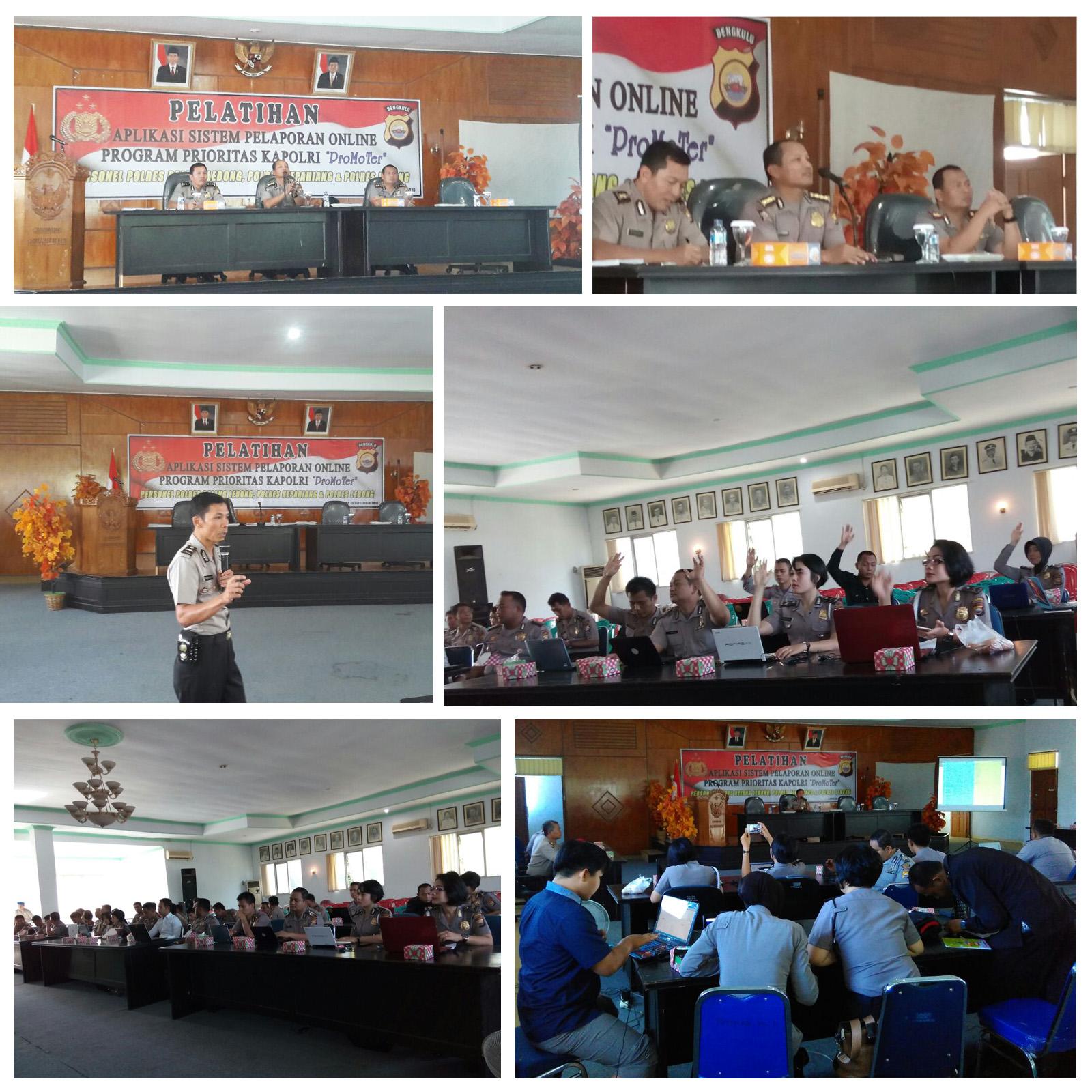Personel Polres Kepahiang Ikuti Pelatihan Entry Data Program Prioritas Kapolri 'Promoter'