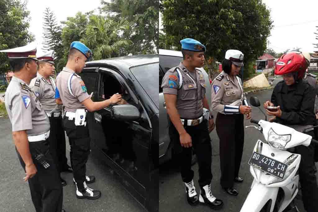 Tegakkan Disiplin, Propam Polres Kepahiang Razia di depan Mako