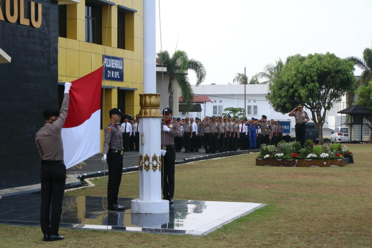 Peringati HAORNAS Ke-36, Polda Bengkulu Gelar Upacara Bendera