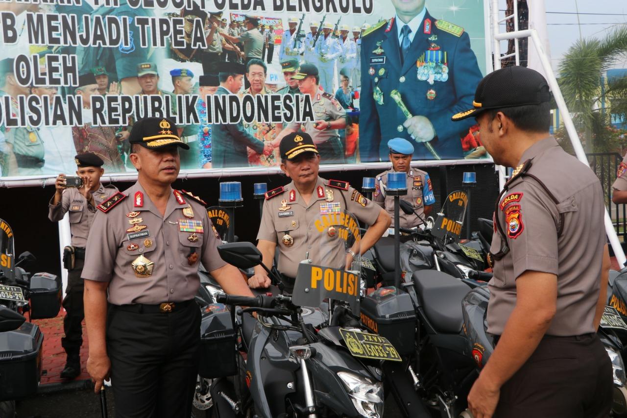 Polda Bengkulu Distribusikan 100 Unit R2 Patroli Ke Polres Jajaran dan SPN