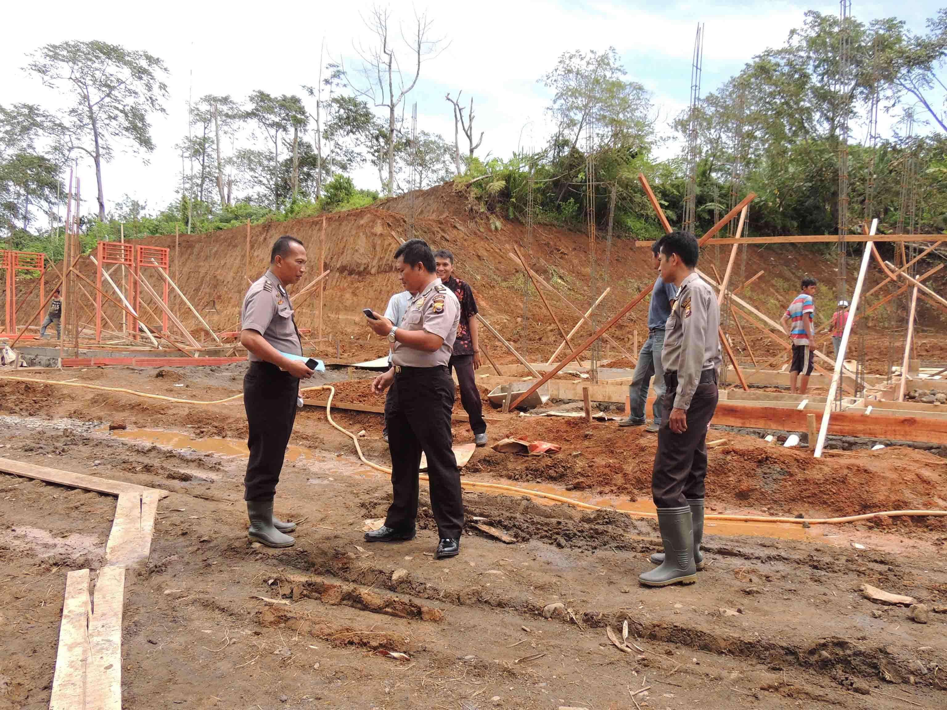 Biro Sarpras Polda Bengkulu Periksa Pembangunan Rumdin Polres Kepahiang