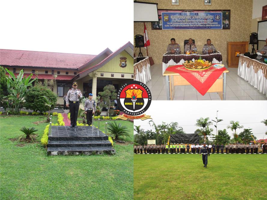 Upacara HUT Satpam ke-35 Tahun 2015 di Polres Kepahiang