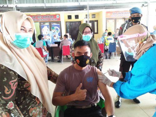 226 Personel Polres Dapat Vaksin Covid – 19, 25 Personel Ditunda