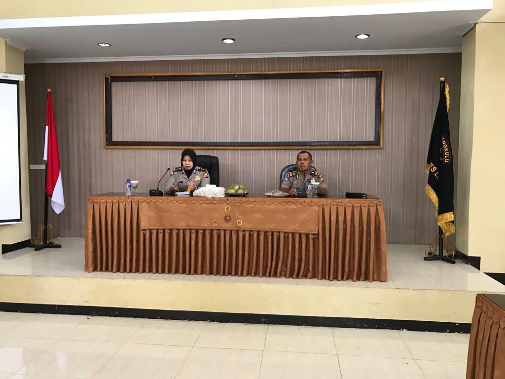 Harpuan Satpam di Polres Lebong, Subdit Bin Satpam Gelar Tatap Muka