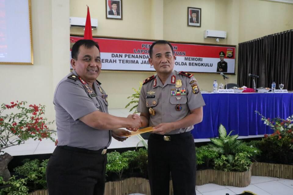 Polda Bengkulu Laksanakan Laporan Satuan Serah Terima Kapolda Bengkulu