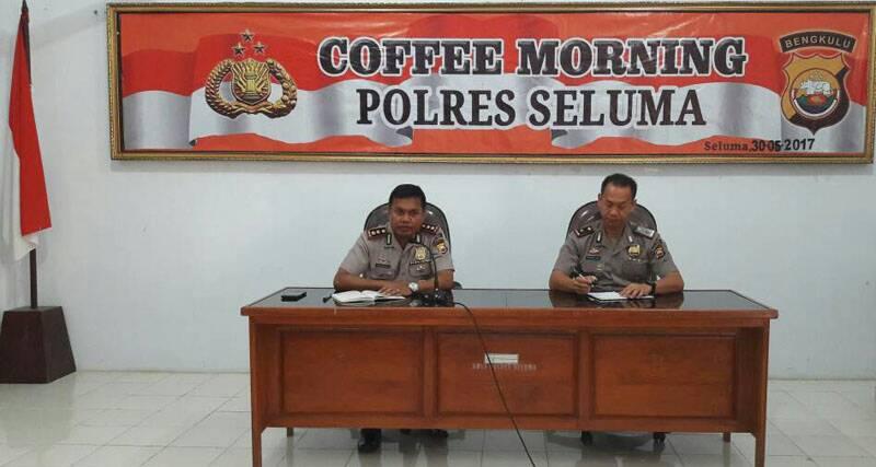 Tingkatkan Komunikasi, Polres Seluma Gelar Coffee Morning