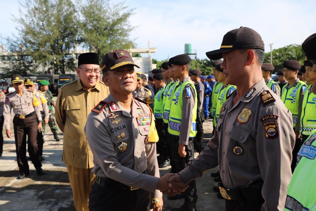 Polda Bengkulu Gelar Pasukan Pengamanan Lebaran 2017